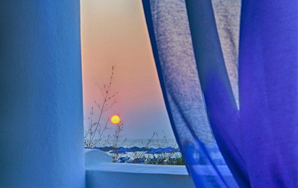 cortinas azules precio